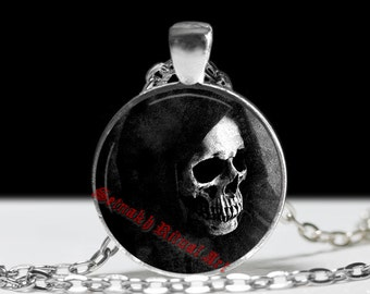 Señor de la Muerte necklace, Santa Muerte pendant, Saint Death amulet, Mexican Skull jewelry, occult jewellery, Death in capture fashion #30