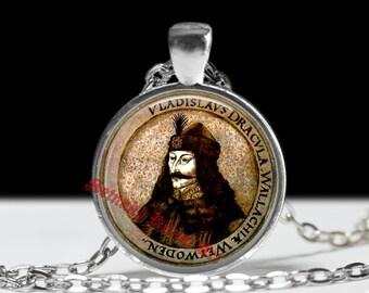 Dracula jewelry, Vampire pendant, Vlad Tepes portrait choker, blood, eternity, Transilvania, Romania, fangs, vampire castle #65