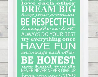 DIGITAL FILE- Home quotes- house rules print