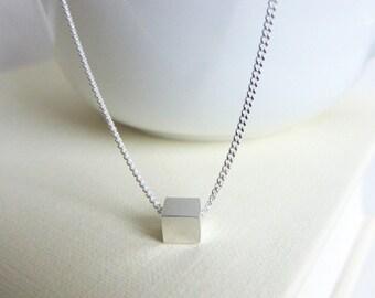 Tiny Cube Necklace