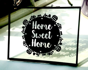 Home sweet home paper cut template