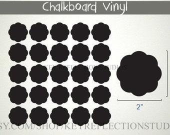25 Chalk Labels Ruffle Vinyl Chalkboard Labels- Pantry Labels, Jar Labels, Mason Jar Labels, Get Organized