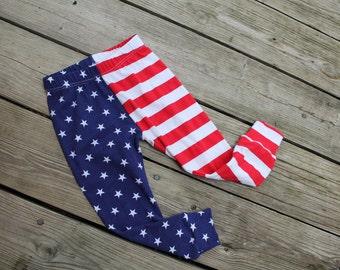 Stars & Stripes Baby Leggings // Baby Legging // Baby Clothes // Baby Pants // Leggings // 4th of July // American Flag Pants