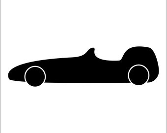 Racing Car Wall Art Stencil  in reusable Mylar Children's wall stencil, wall art, small to large stencils up to 19.5 x 27.5 inches.