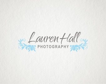 Photography logo design - Premade Logo Design & Watermark - Company Logo - Business Logo - Flowery Logo