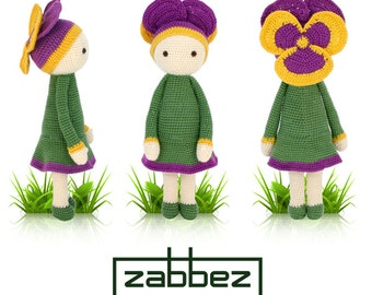 "Crochet pattern amigurumi doll ""Violet Vicky"" PDF"