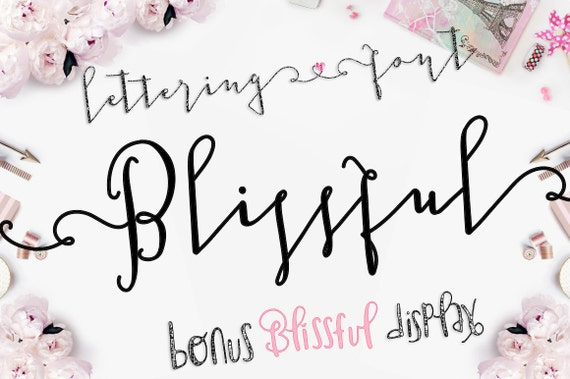 Blissful Digital Font Download, Modern Calligraphy Script and Display Font Typeface