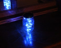 Mason Jar Solar Lid Angel Lights Firefly Lights- Great for Projects and Crafts - Blue Light