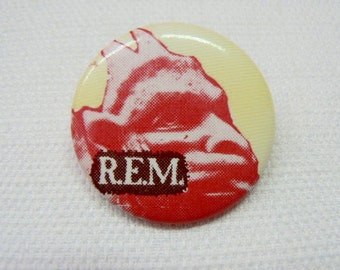 Vintage Early 80s REM / R.E.M. Chronic Town Debut EP Promotional Pin / Button / Badge