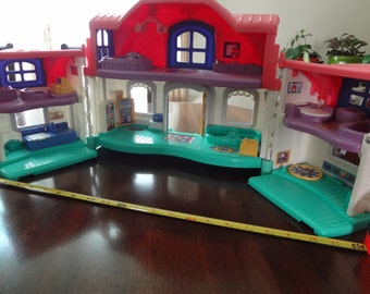 Fisher Price Sweet Sounds Family House Little People Dollhouse Vintage Fisher Price Toys