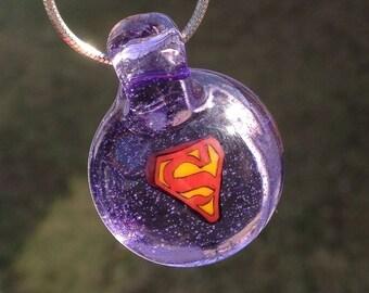 Purple Rain SuperGirl Pendant