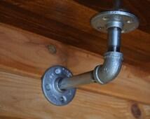 Industrial Pipe Shelf Bracket - Metal Pipe Shelf Bracket - Galvanized Shelf Bracket