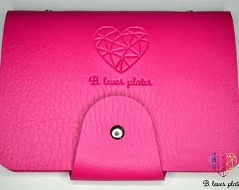 Organizer / case / holder for stamping plates - B. Loves Plates - PINK