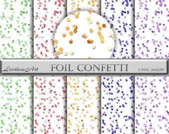 Glitter confetti overlay Confetti clipart overlay Pink gold glitter digital confetti Gold glitter confetti clip art Foil confetti digital