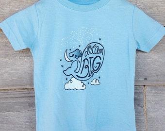 "Nauti-Kids Whale T-Shirt ""Dream Big"" BABY, TODDLER, YOUTH Sizes"