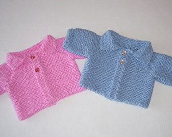 Newborn Baby Sweater for Twins, Hand Knit