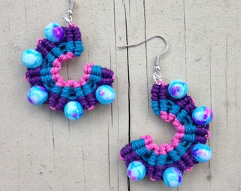 Candy Dream Macrame Earrings