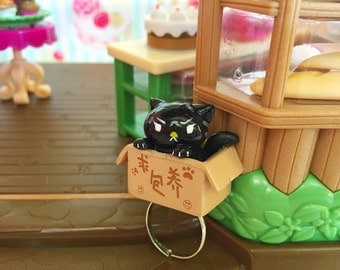 30%off!! Angry Cat Ring,Miniature Ring