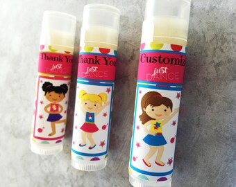 5 Pc Dance Party Lip Balm Favors/Dance Party/Party Favors/ Dance Birthday/Girl Birthday Party/Dance Lip Balm/Dance Party Favors
