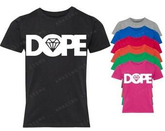 Dope Diamond White Youth T-shirt Fashion Shirts