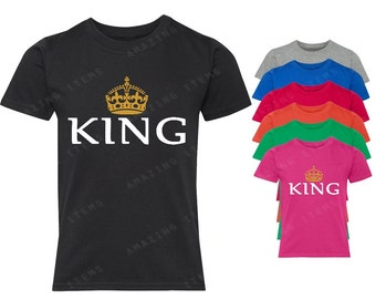 King Crown YOUTH T-shirt Couple Matching shirts