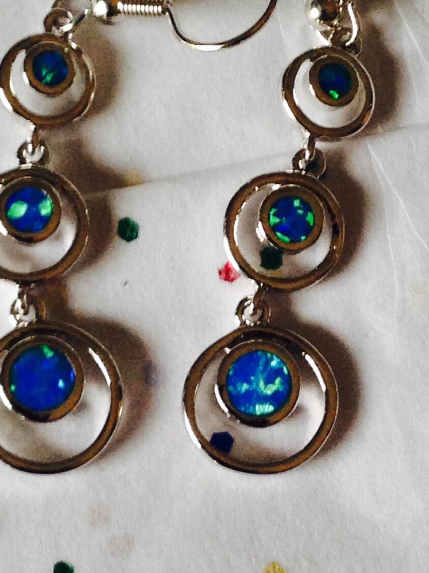 blue fire opal earrings opal jewelry fire opal earrings. Black Bedroom Furniture Sets. Home Design Ideas