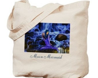Moon Mermaid Tote Bag