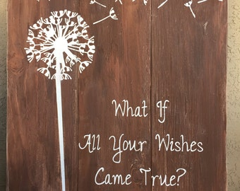 Dandelion wishes 18x20 wall art