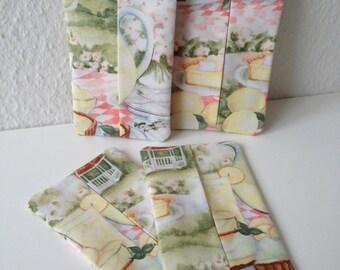 Lemon Picnic - 4 Piece Set Of Travel Tissue Covers