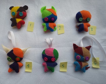 Assorted Zombie Animal Plushies