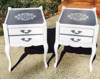 Sold-Vintage Redesigned End Tables