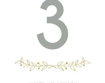 Wedding Table Numbers - Woodland Wedding - Woodland Wedding Table Numbers - Garden Wedding - Table Numbers - Wedding Table Decor - Signage
