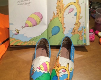 Oh the Places You'll Go Inspired Hand-Painted Shoes