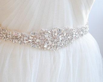 Jewel Bridal Belt, Luxe Beaded Wedding Sash