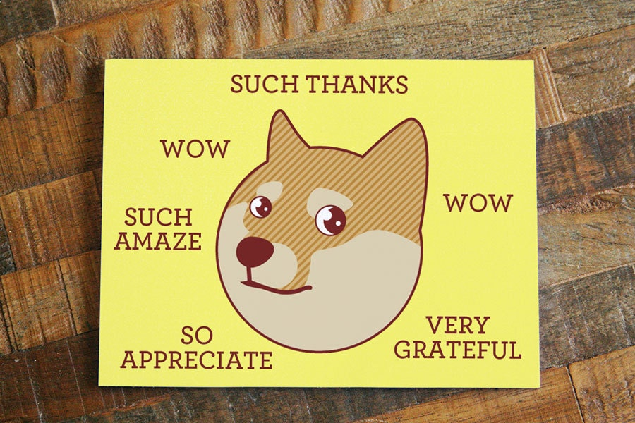 Doge birthday card gangcraft doge card etsy birthday card bookmarktalkfo Choice Image