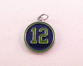 12th Man Hawks Inspired Blue and Green Charm