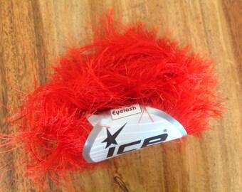 Red long eyelash yarn ice yarn eyelash blend