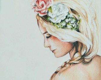 Peaceful Flower Girl