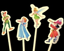 Peter Pan cupcake toppers, Ready in 3-5 Weekdays, 12 pieces