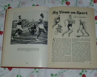Raymond Glenenning's Book Of Sport For Boys Vintage Sport Memorabilia Collectable Cricket Swimming & Boxing 1959 Edition Cartoon Drawing's
