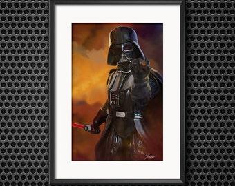 Darth Vader, Star Wars, Sith Art Print 11X17