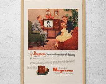 RETRO MAGNAVOX TV Ad