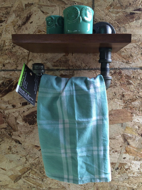 Towel bar with wood shelf [E10251039381173655M] - $43.00 ...