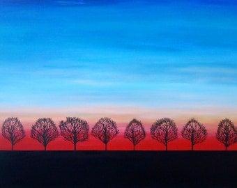 Ten Evening Trees