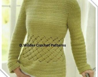 PDF Crochet Panel Jumper