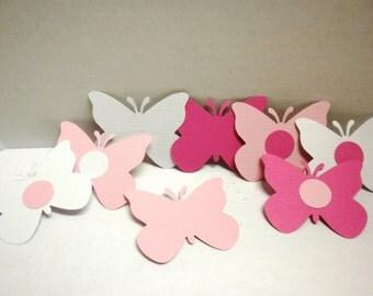 Pink & Gray Butterfly Die cuts-Butterflies, Die Cuts, Scrapbooking, Embellishments, Flower Die Cuts-DCB-32