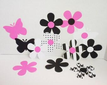 Scrapbook Butterflies & Flowers die cuts-Butterflies, Flowers, Die Cuts, Scrapbooking, Embellishments, Flower Die Cuts