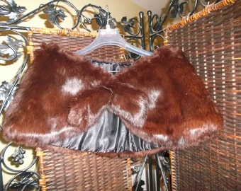 1950's Brown Fur Wrap Stole
