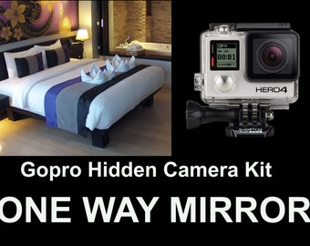 GOPRO Hidden Camera Kit,Turn Your Gopro Into a Spy Camera! One Way Mirror, LOOK!