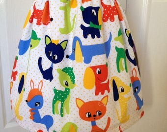 Girls skirt, Michael Miller Plush Puppies, various sizes available